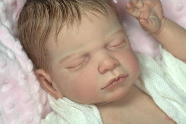 rare limited edition solid silicone reborn baby doll kit DIY blank kits head 3 4 arms