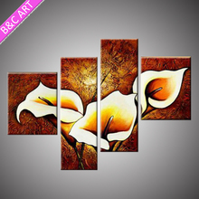 Beautiful blossom decorative group art canvas flower oil painting