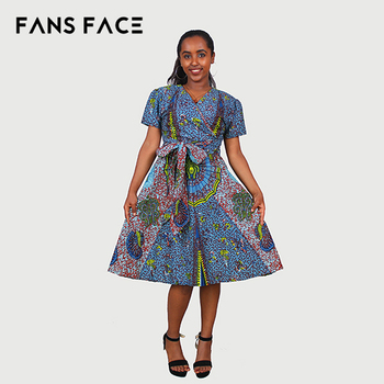 African Clothes Design | Multi Color Fancy African Kitenge Designs Dresses African Wear And