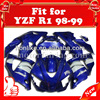 Aftermarket fairing kits YZF R1 98-99 ABS plastic with best price Blue/White