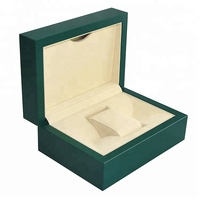 New design wood Watch Box Logo watch box leather with packaging