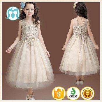High Quality Long Dress Chiffon New Style Gold Color Kid Garment ...