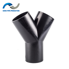 HDPE drainage pipe fittings 60 degree HDPE Y tee