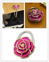 Guangdong factory supply handbag hanger zinc alloy metal bag hanger flower purse hook