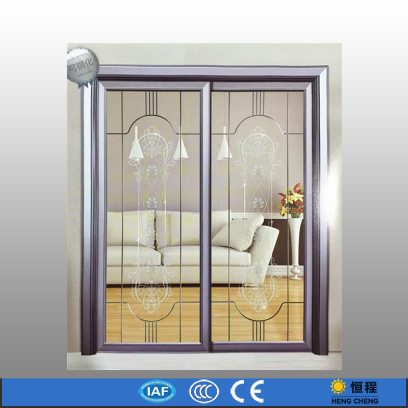 Aluminum Frame Glass Exterior Double Doors For Bedroom