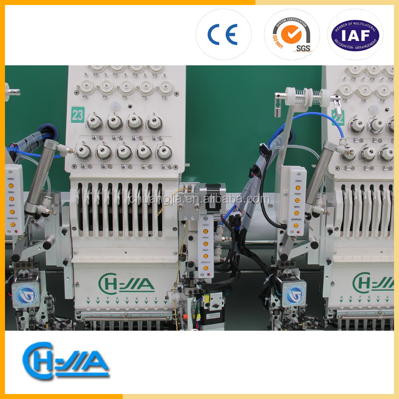 CH-JIA computer controlled mix head double sequins+cording+flat embroidery machine MADE IN CHINA ZHUJI