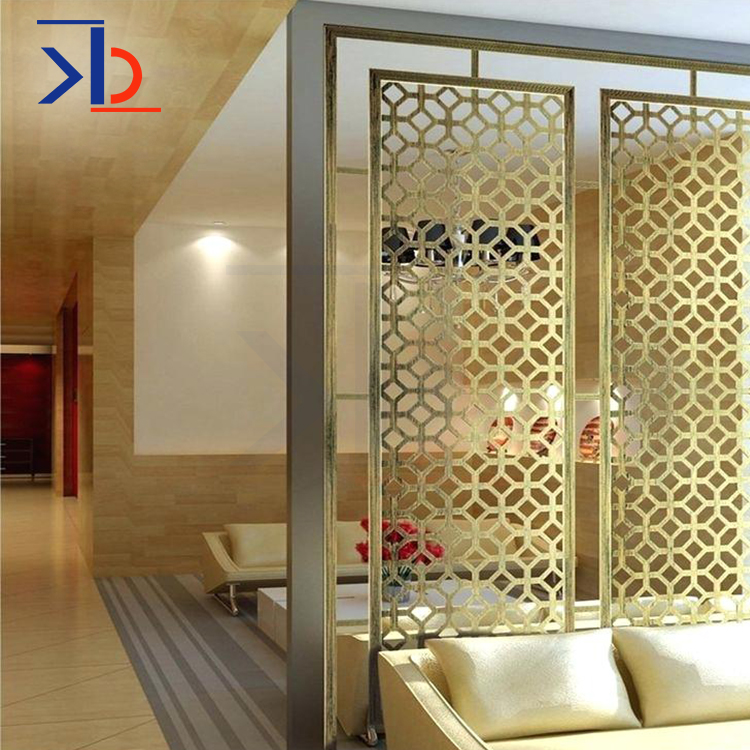 Metal Steel Parion Designs Indoor Decorative Laser Cut Screen Room Panels Stainless Elegant Living Wall Panel Divider