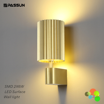 Anodized Gold Led Surface Wall Lamp For House Decoration
