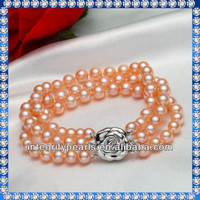 Elegant Natural perfect round pearl lucky beads bracelet