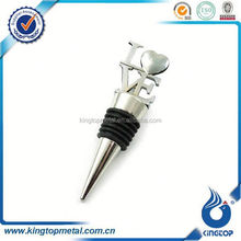 Silver wine Bottle Stopper with Love for Wedding