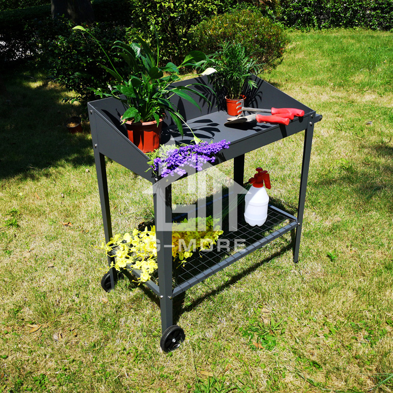 Awe Inspiring Versatile Balcony Garden Metal Steel Potting Bench With Wheels Buy Potting Bench Steel Potting Bench Steel Potting Bench With Wheels Product On Creativecarmelina Interior Chair Design Creativecarmelinacom