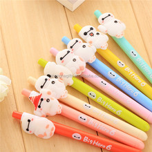 Cheap custom silicone cartoon ball-point pen/promotion gift gel ink pen
