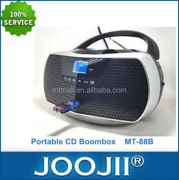 Mini Boombox portátil CD Player com USB/MP3