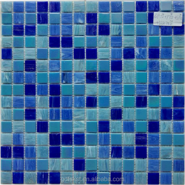 Mix colors glass mosaic decorative swimming pool tile