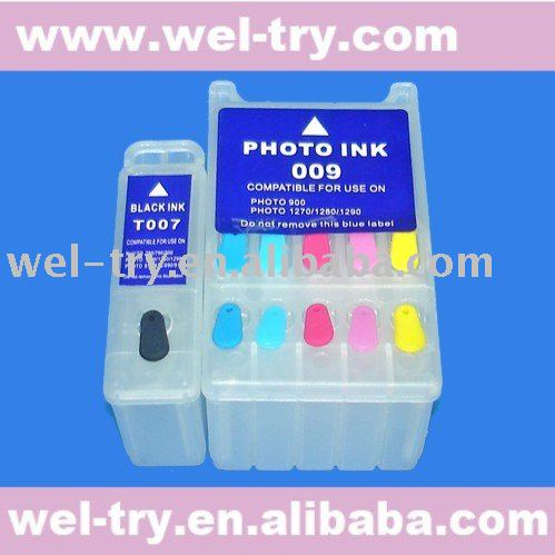 New Genuine Epson Stylus Photo 1270 1280 1290 T007 T009 Black/&Color Ink Set