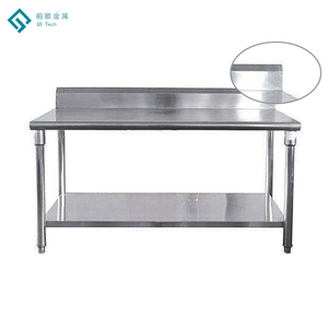 Commercial Kitchen Restaurant Equipment Stainless Steel 2-Tier Kitchen Table