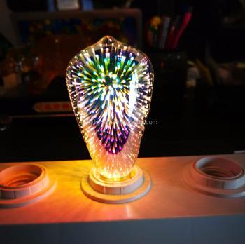 greeneye 3d star silver glass led edison bulb e27 colourful led lamp 220v retro filament light