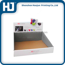 Custom corrugated paper display box,display rack for battery and charger