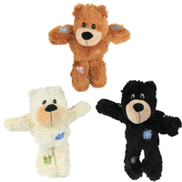 Manufacturer wholesale stuffed squeaky chew plush pet dog bear toys