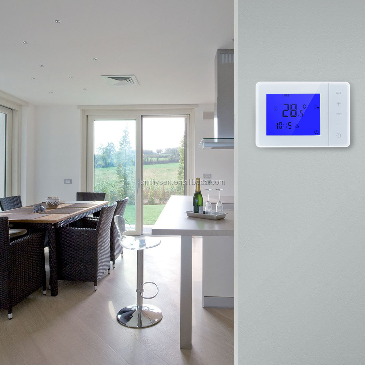 Electric heating system LCD touch screen IR panel thermostat