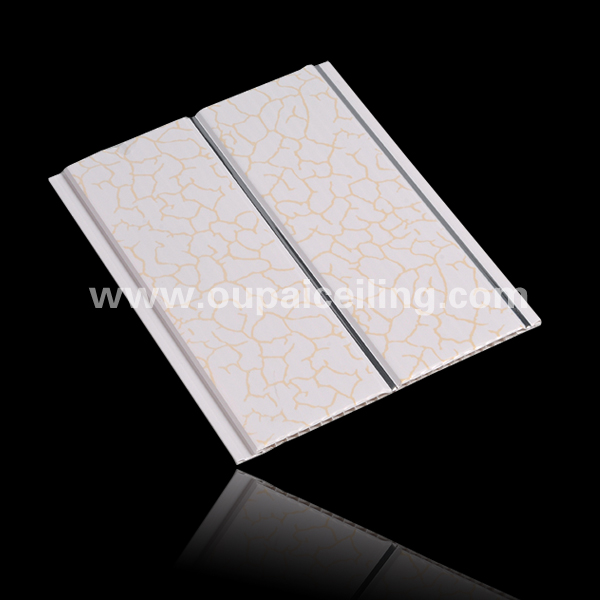 Middle groove false pvc wood designs ceiling panels