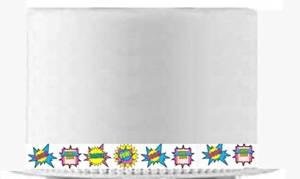 CakeSupplyShop Item#24517 Girl's Super Hero Theme Slim Edible Cake Decoration Ribbons -6Strips