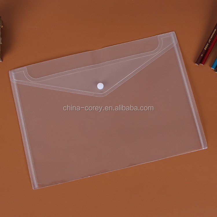 custom a3 size plastic file folder with fastener
