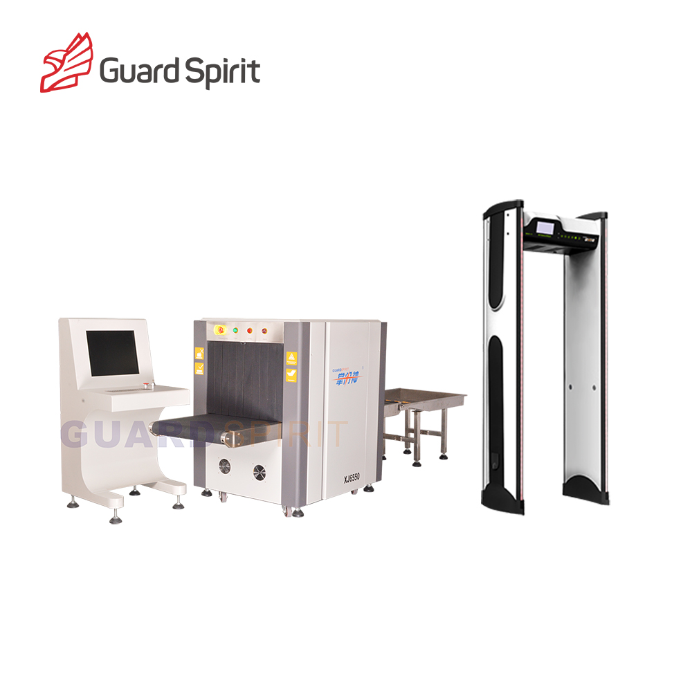 Medium Tunnel X ray Baggage Scanner XJ6550 Hotel Security Scanner Equipment