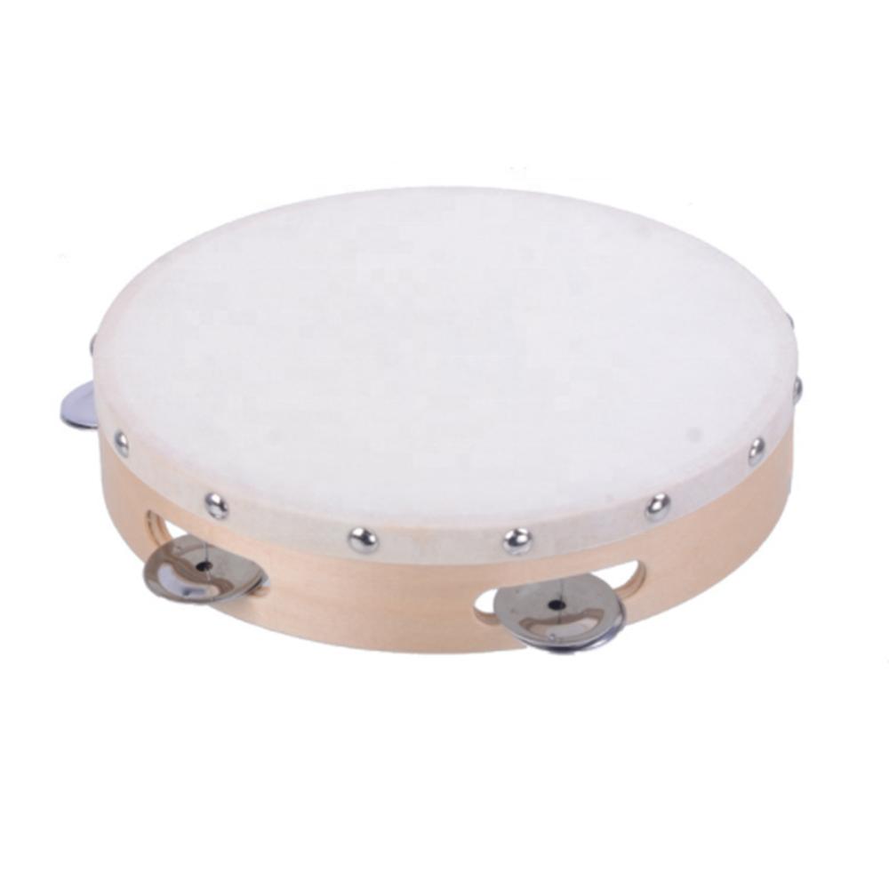 Kinder Holz Tambourine Handglocke Trommel Hand Percussion Tambourin