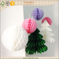 different style paper honeycomb christmas decoration kit