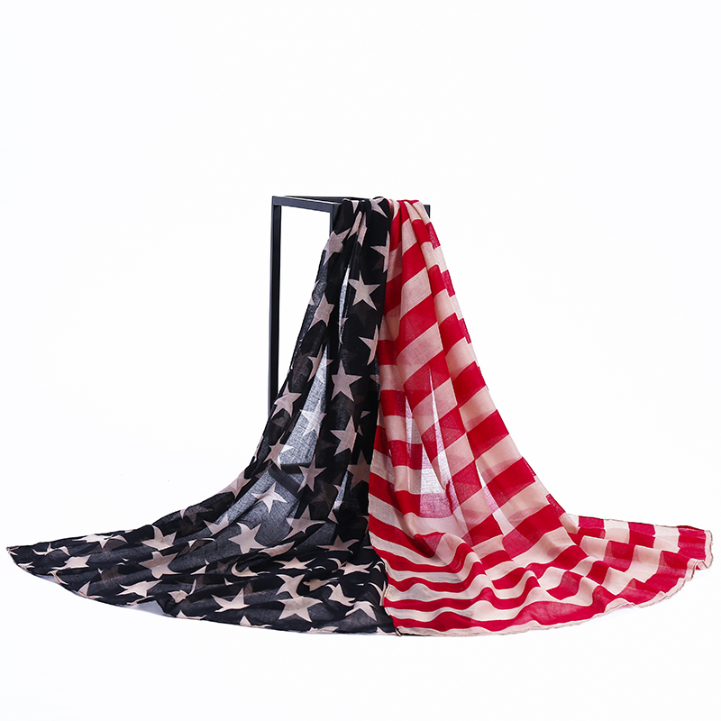 High Quality Stars and Stripes Polyester American Flag <strong>Scarf</strong>