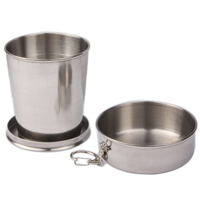 Wholesale Outdoor Sport gifts Stainless Steel Retractable Outdoor Cup camping accessory