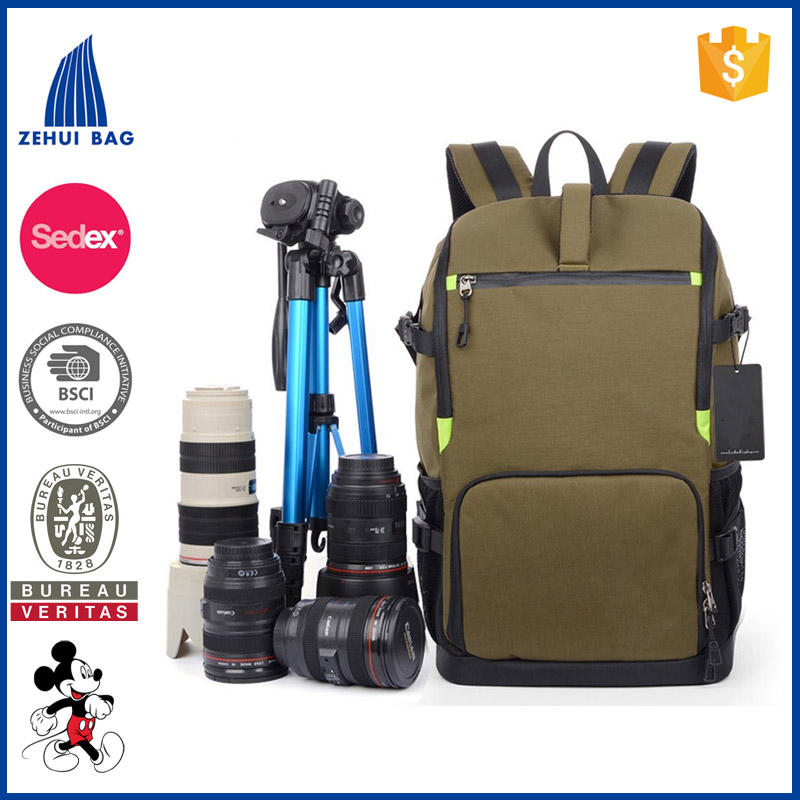 Multi-functional Anti-shock DSLR Camera Bag Backpack Professional Gear Photography Travel Rucksack 15-inch Laptop Pack