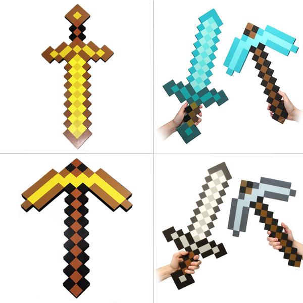 Minecraft Mini Figures Grass Series Steve in Gold Armor ...   Minecraft Gold Sword Toy