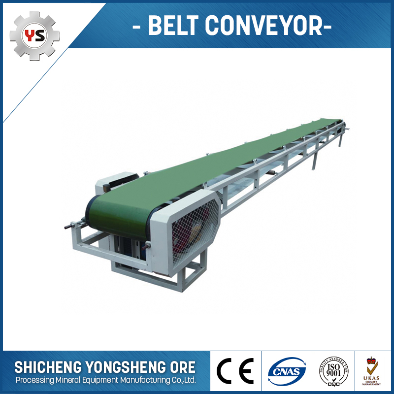 Cement Conveying Belt With Hopper Belt Conveyor Sand