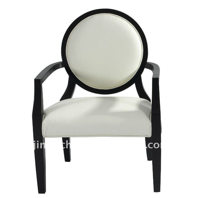 elegant wood arm chair with round back