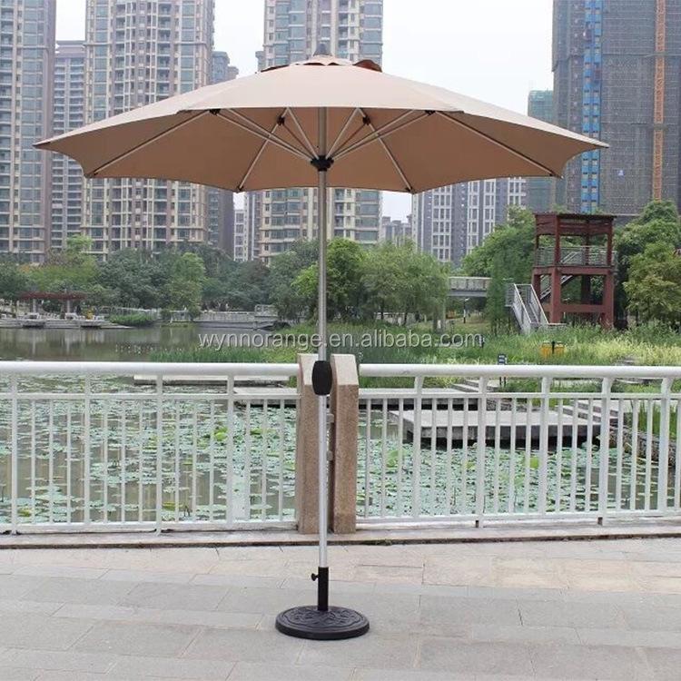 Parasol 2.5m Aluminium Frame Garden Waterproof Polyester Patio Outdoor  Umbrella