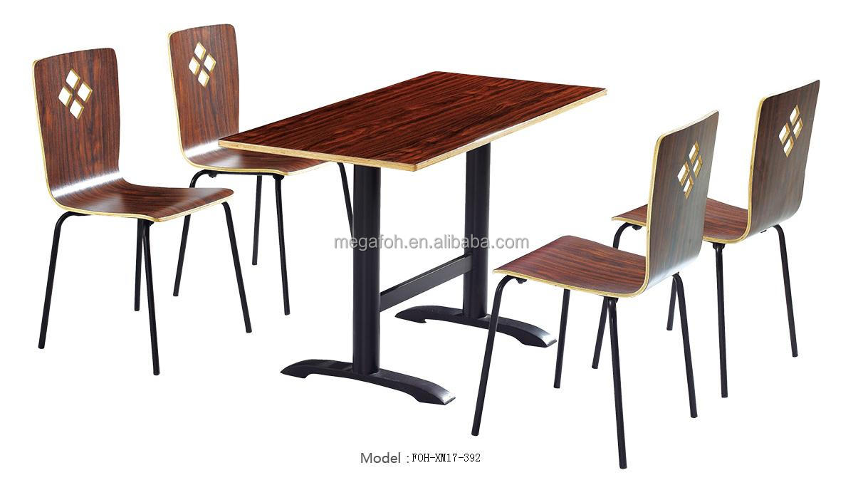 Fashion Design Table And Bentwood Chairs Furniture For Hotel - Table and chair design for restaurant