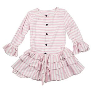 kids party wear frocks best selling products 2018 in usa long sleeve fashion striped frocks design