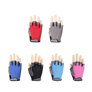 Summer men/women fitness gloves gym weightlifting cycling yoga bodybuilding training thin breathable non-slip half finger gloves