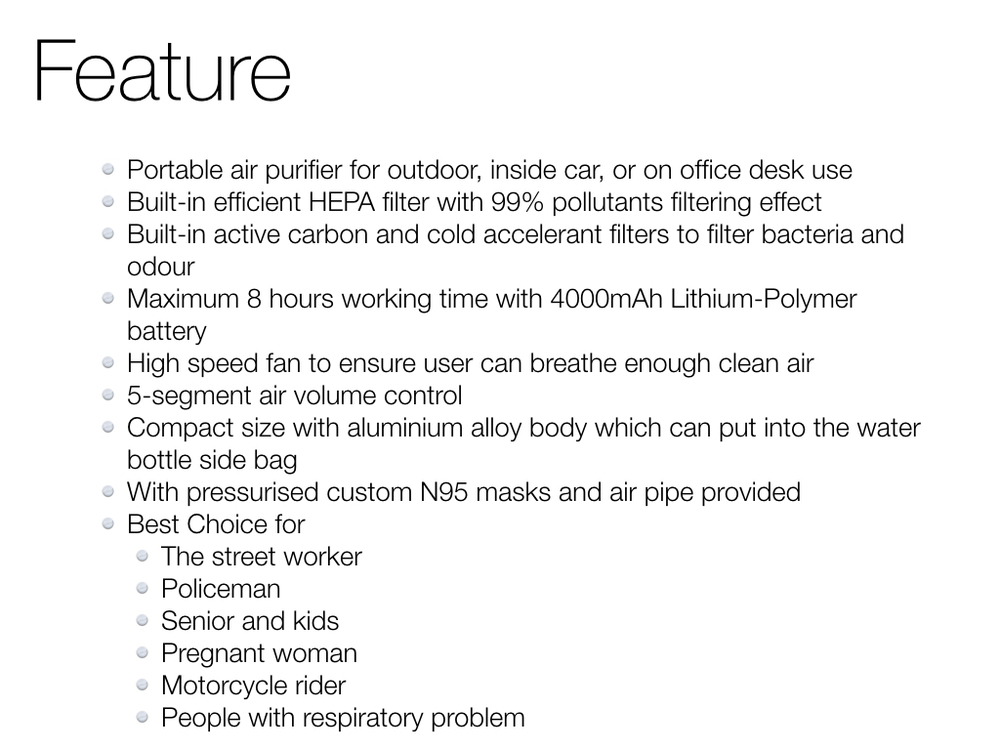 Mini Home Air Purifier With Hepa Filter Pm2.5 With Battery Power ...