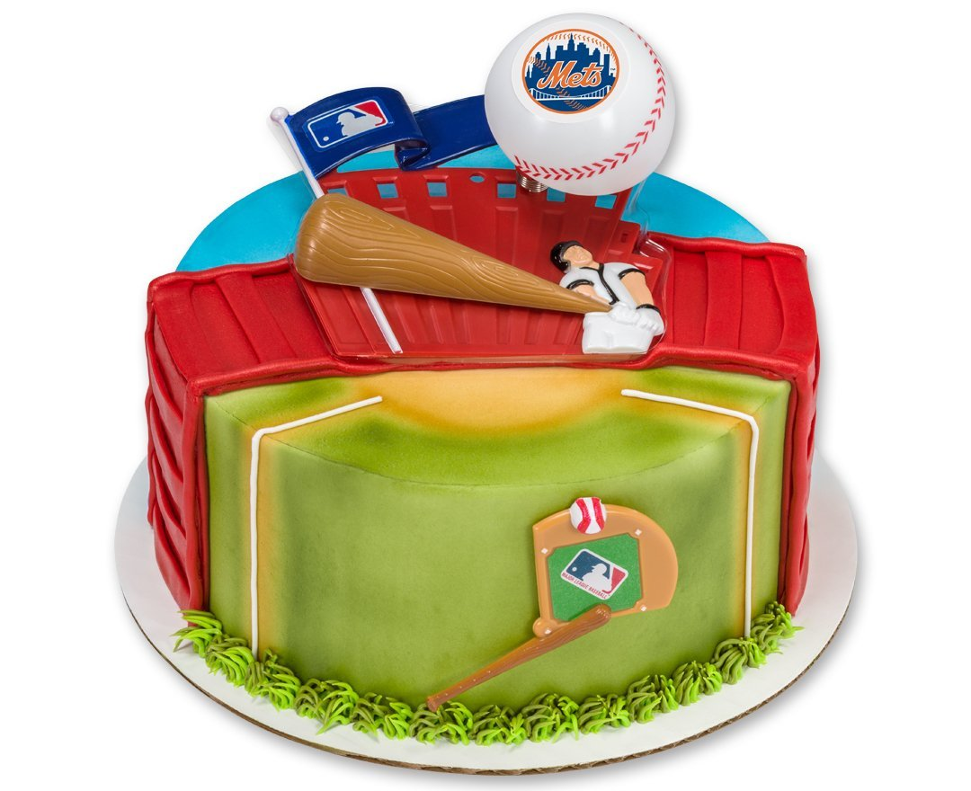 Get Quotations New York Mets Home Run Cake Topper Set