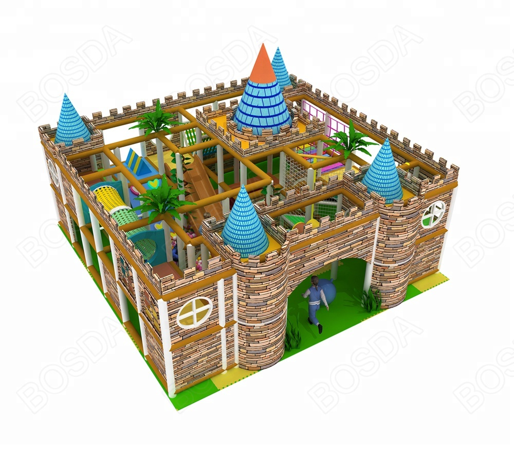 New design castle playground indoor naughty castle indoor activities for kids play ground equipment