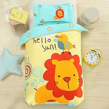 Newest cartoon character bedding set 100cotton for kids Hello Kitty design bed sheet