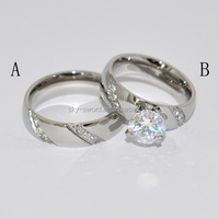 New Arrival Sliver Color Stainless Steel Engagement Ring BR20055