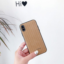 Universal Weiche Business Woven Leder Handy Fall Abdeckung für iPhone X/XS/XR/XS MAX