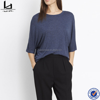 100% viscose Cheap custom printed womens baseball shirts black t-shirt foft plain tee
