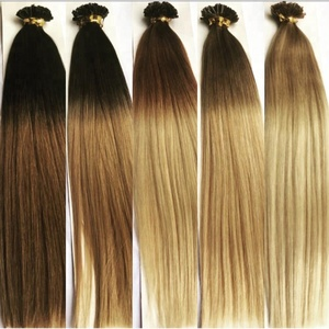 Prebonded Ketatin U/Nail Tip Hair Double Drawn Remy u tip ombre human hair extension wholesale