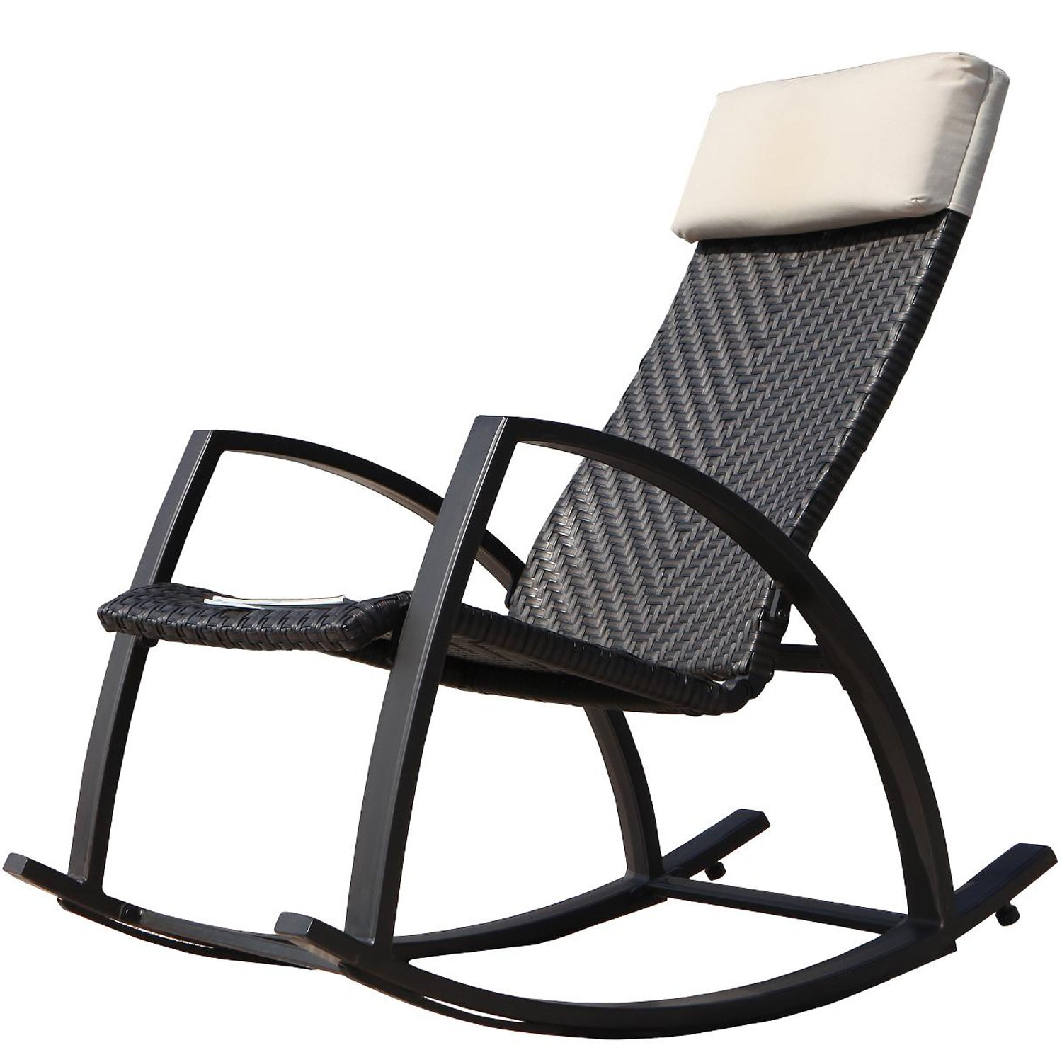 Buy Mainstays Outdoor Wood Rocking Chair Black In Cheap