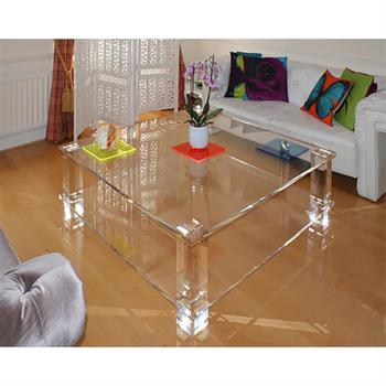 Modern Italian Console Table Transparent Pool Table Commercial Furniture  Hotel Hall Table